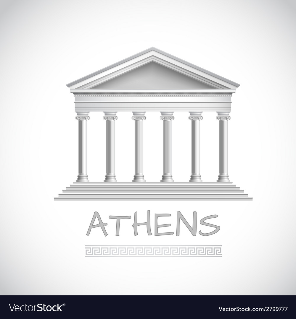 Athens temple emblem vector | Price: 1 Credit (USD $1)