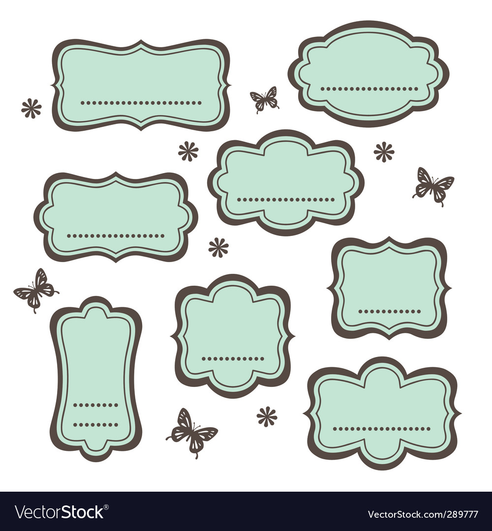 Cute vintage frames vector | Price: 1 Credit (USD $1)