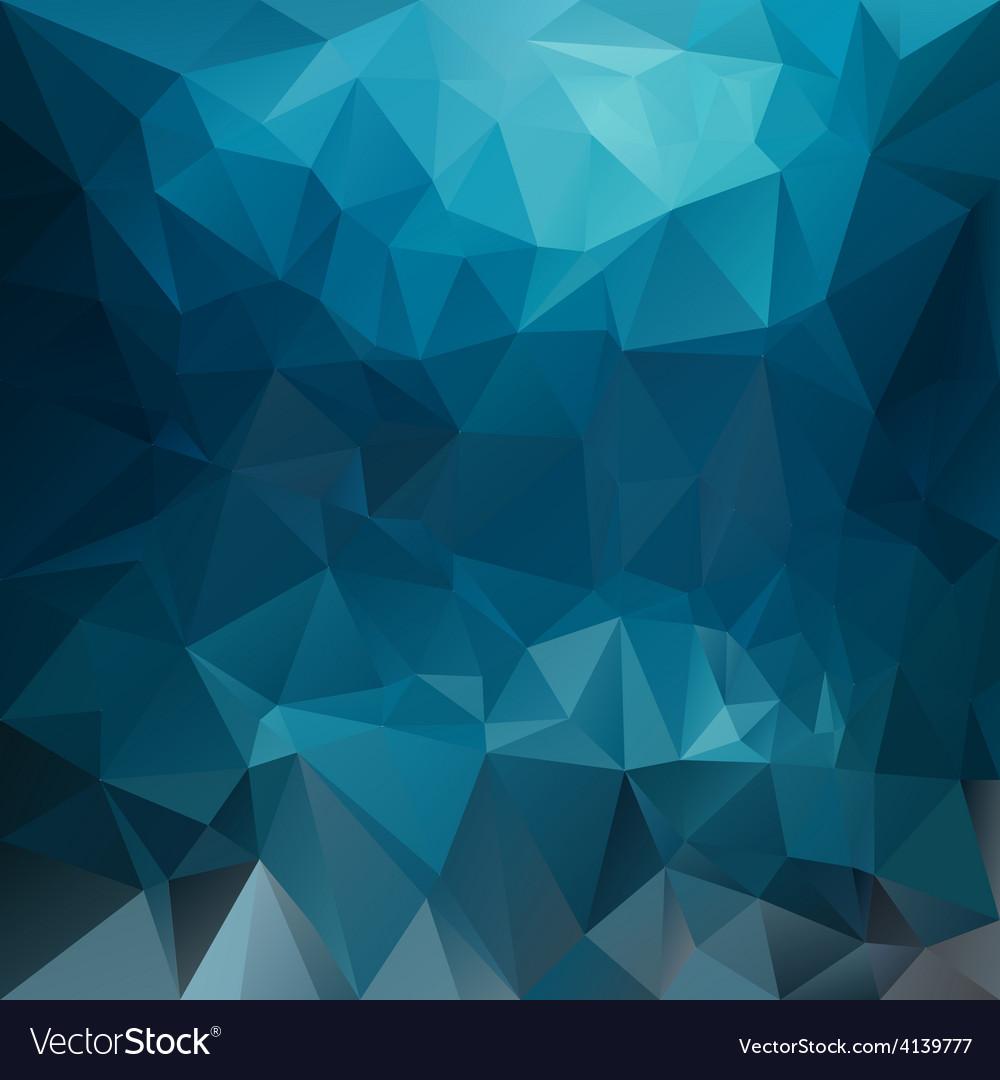 Dark blue sea polygonal triangular pattern vector | Price: 1 Credit (USD $1)