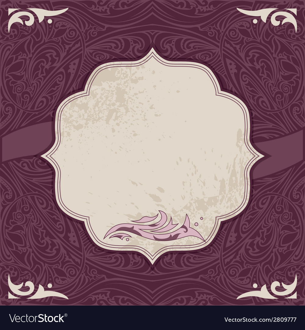 Decorative card template vector | Price: 1 Credit (USD $1)