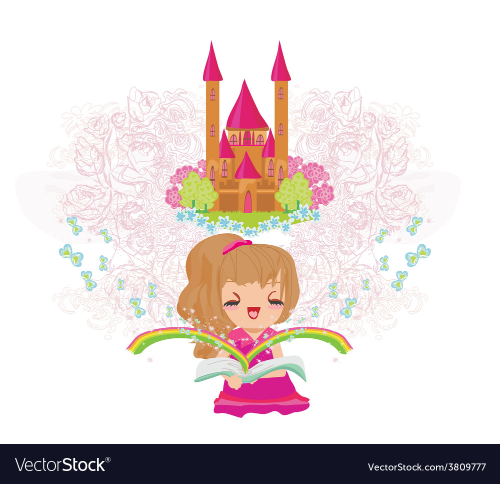 Dreaming about fairytale vector | Price: 1 Credit (USD $1)