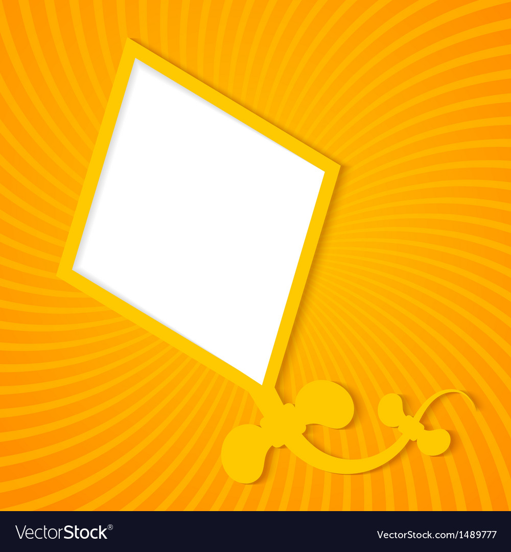 Kite on a orange background vector | Price: 1 Credit (USD $1)