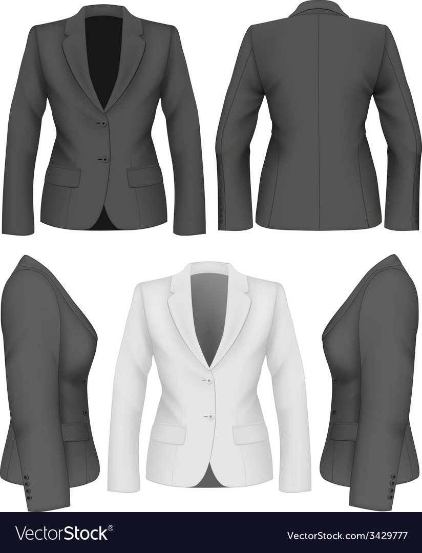 Ladies suit jacket vector | Price: 1 Credit (USD $1)