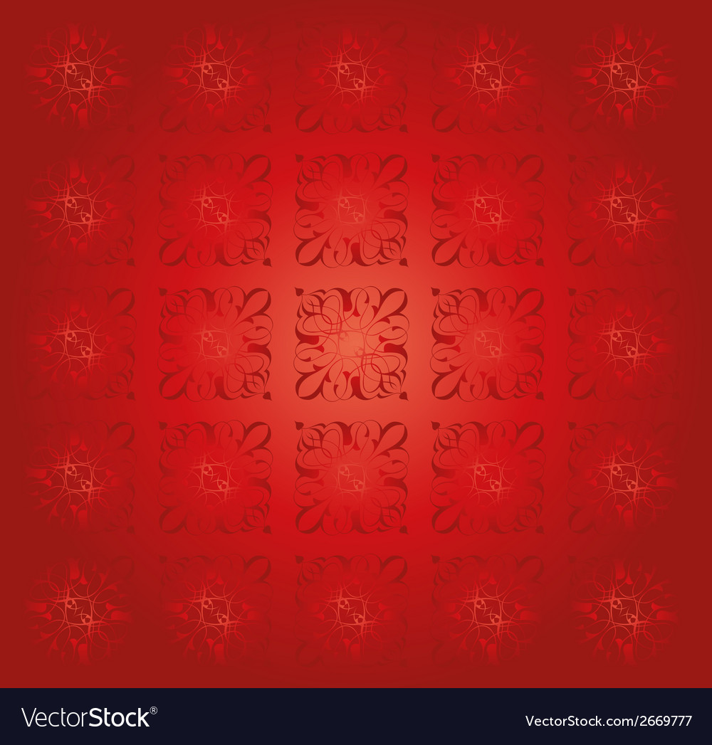 Red floral pattern vintage abstract background vec vector | Price: 1 Credit (USD $1)