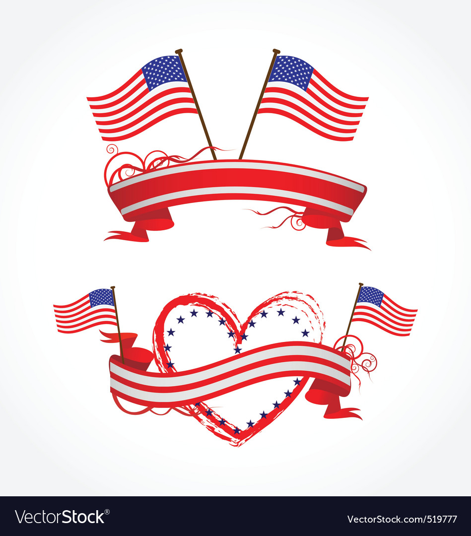 Ribbons for july 4th vector | Price: 1 Credit (USD $1)
