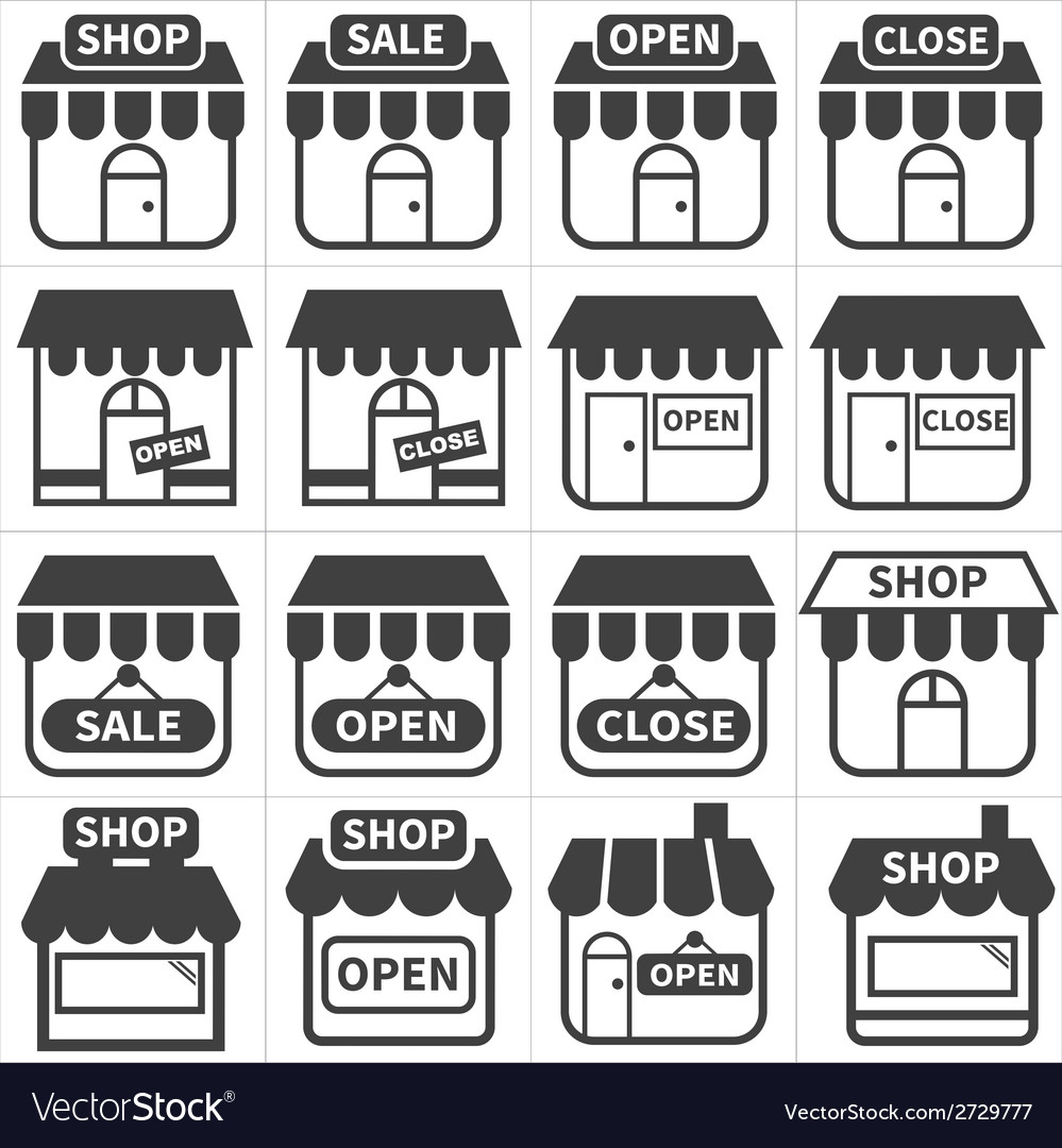Shop and store icon vector | Price: 1 Credit (USD $1)