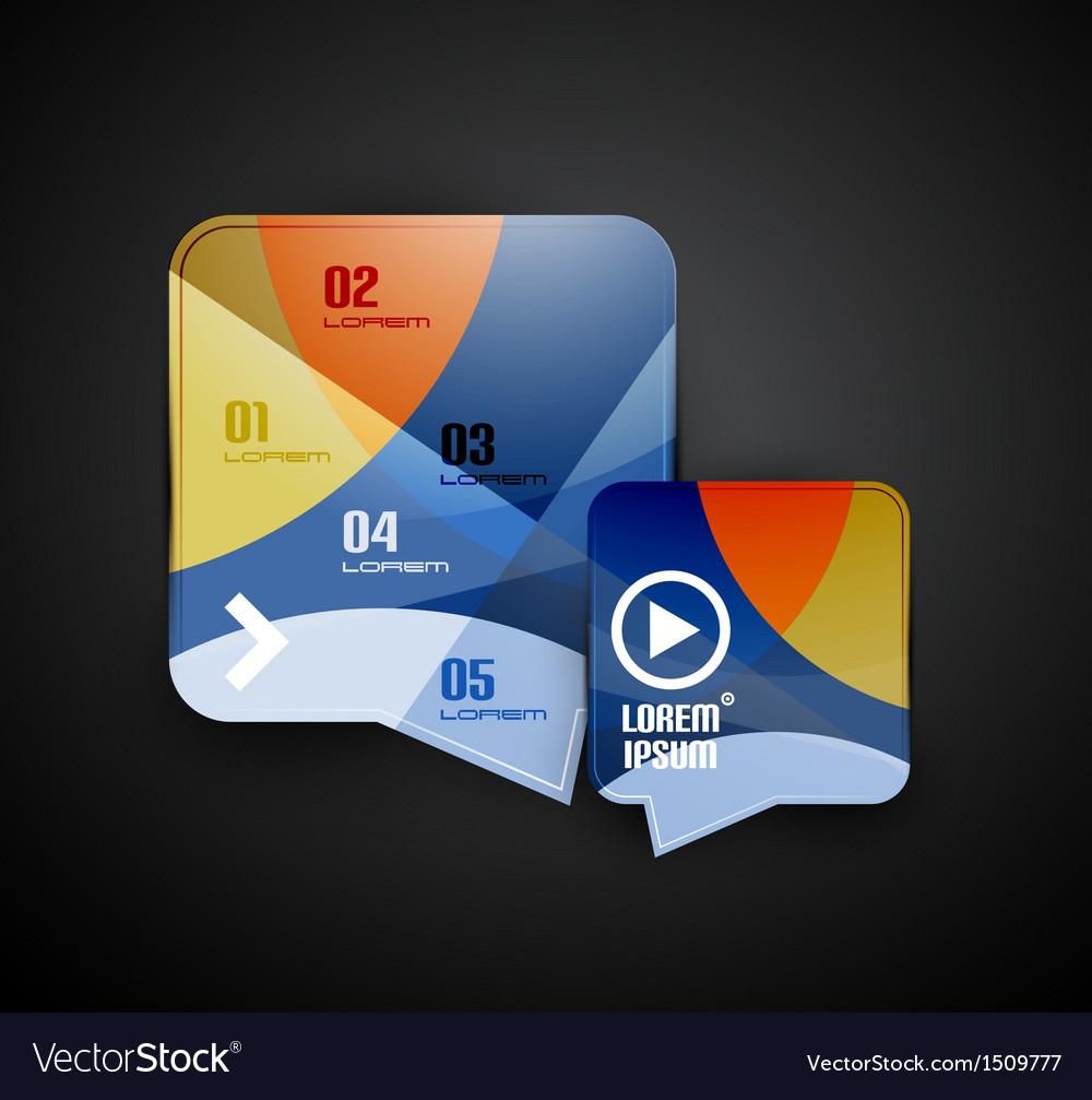 Speech bubbles infographics modern template vector   Price: 1 Credit (USD $1)