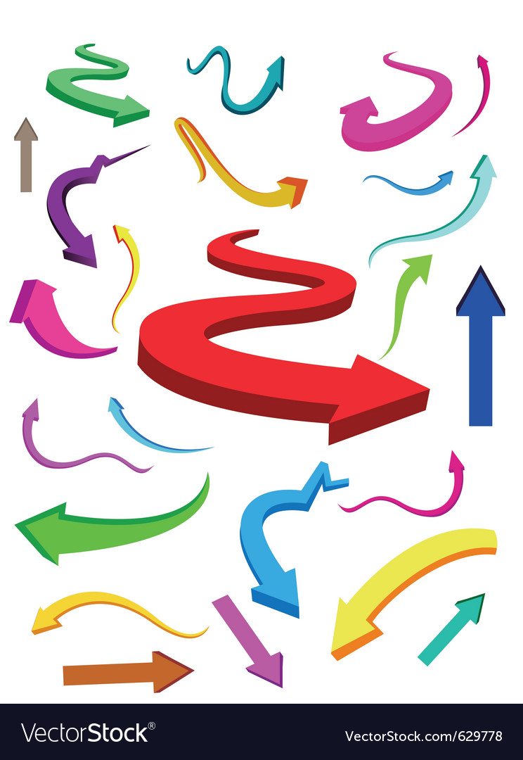 Business finance arrows vector | Price: 1 Credit (USD $1)