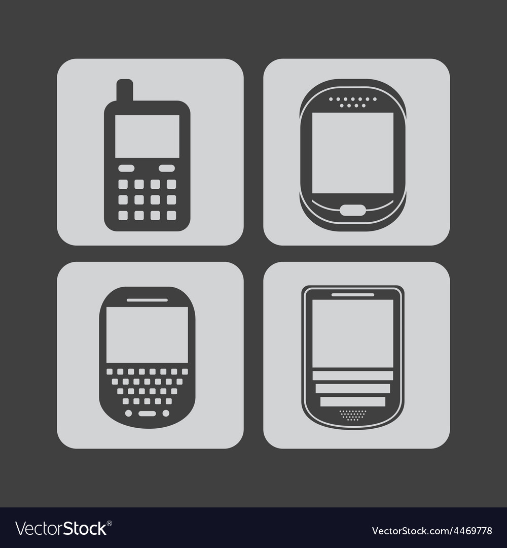 Cellphone icons vector | Price: 1 Credit (USD $1)