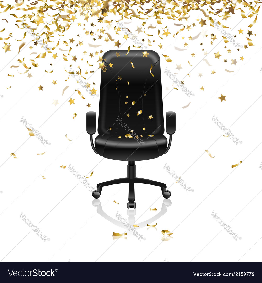 Chair with confetti vector | Price: 1 Credit (USD $1)