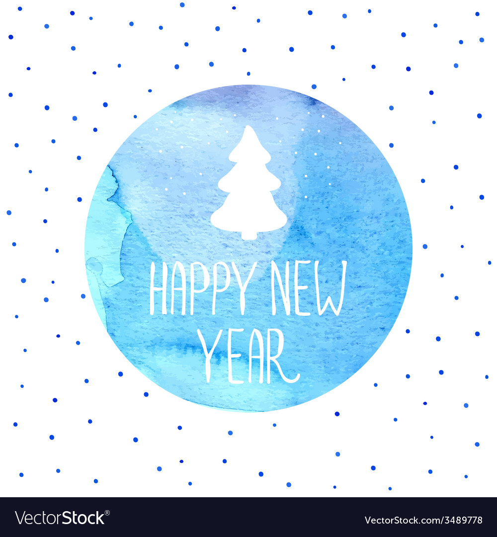 Christmas tree new years background vector | Price: 1 Credit (USD $1)