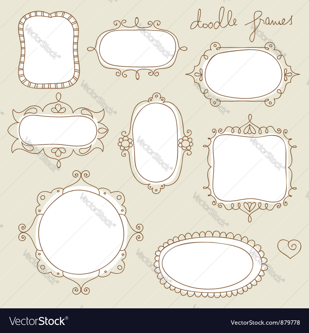 Doodle frame set vector | Price: 1 Credit (USD $1)