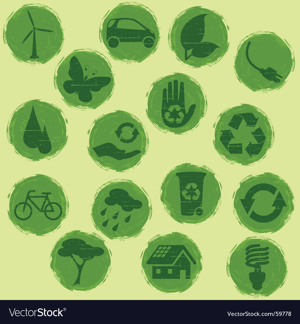 Eco buttons vector | Price: 1 Credit (USD $1)
