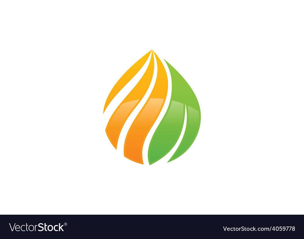 Eco swirl water drop symbol logo vector | Price: 1 Credit (USD $1)