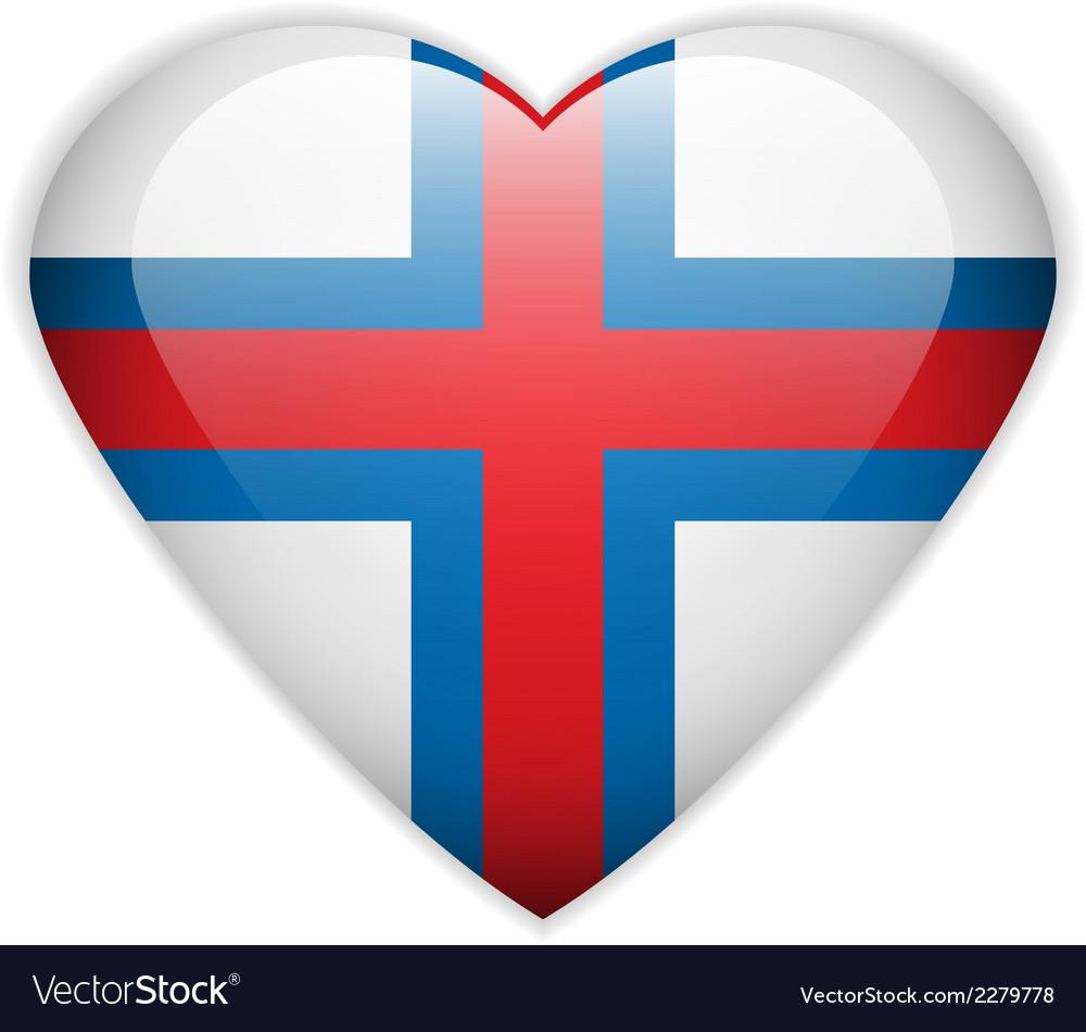 Faroe islands flag button vector | Price: 1 Credit (USD $1)