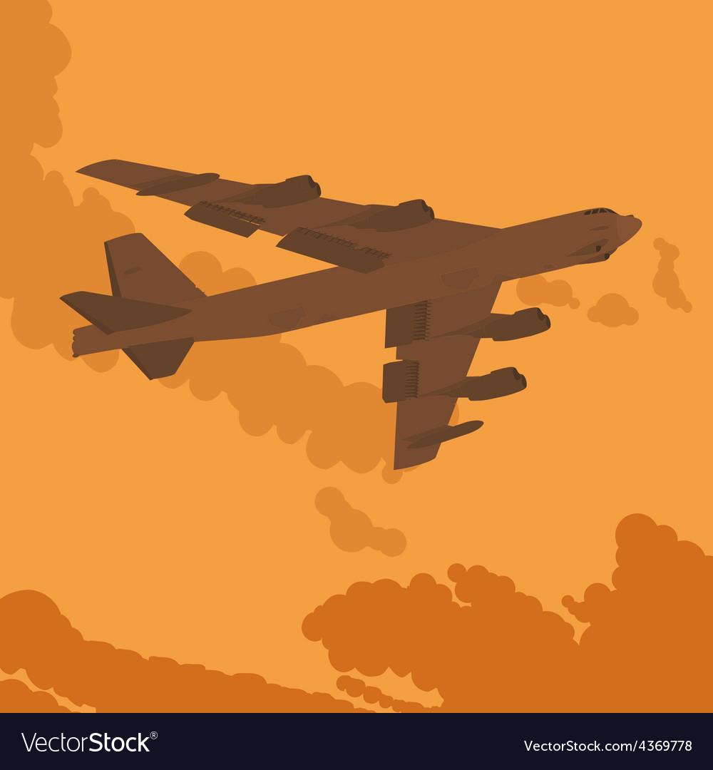 Heavy bomber in the sky vector | Price: 1 Credit (USD $1)