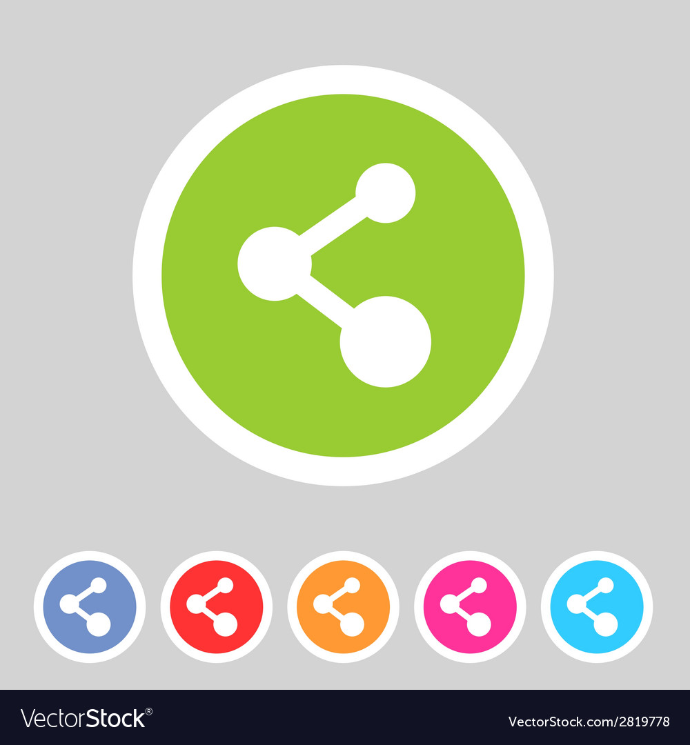 Share flat icon badge vector | Price: 1 Credit (USD $1)