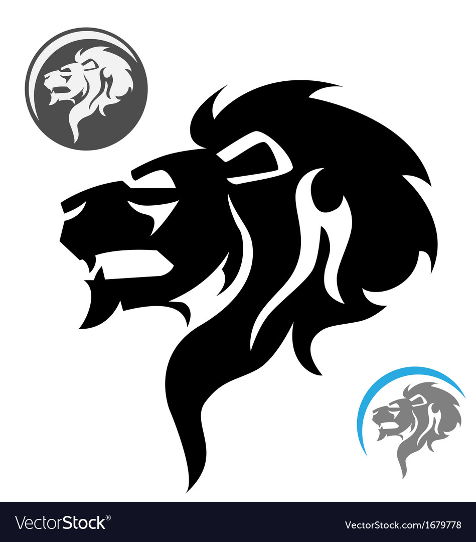 Stylized lion head vector | Price: 1 Credit (USD $1)