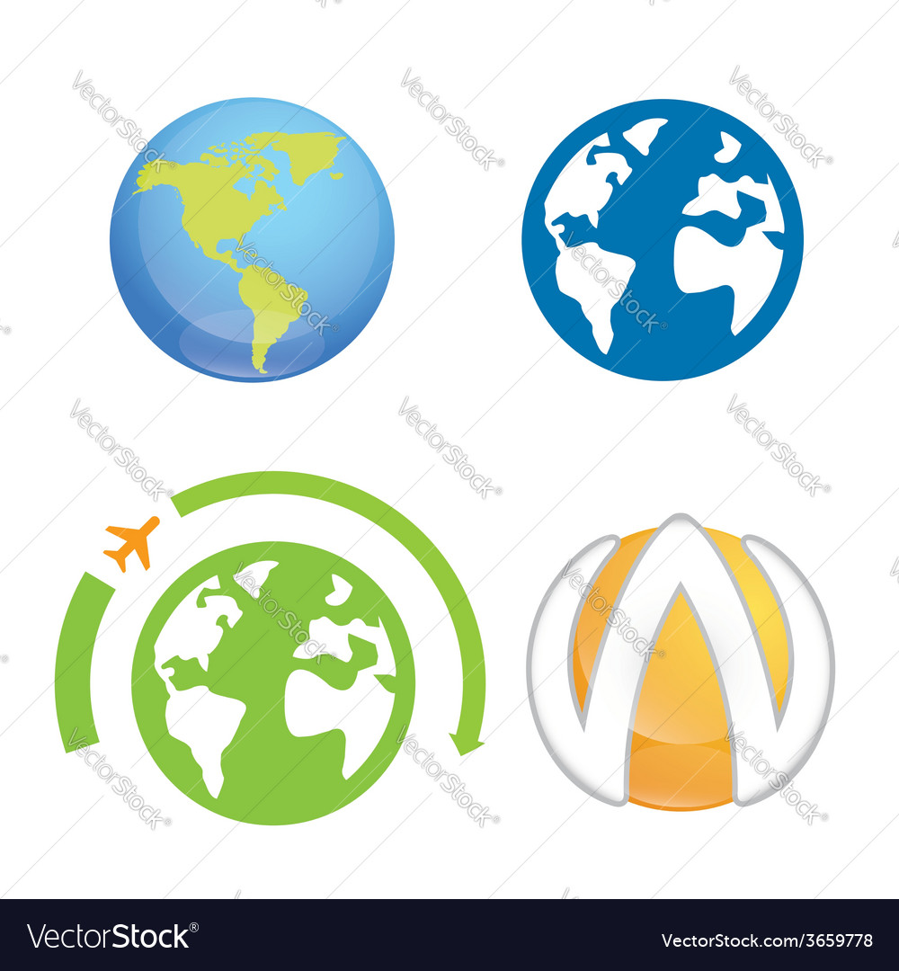 World earth planet logo element vector | Price: 1 Credit (USD $1)