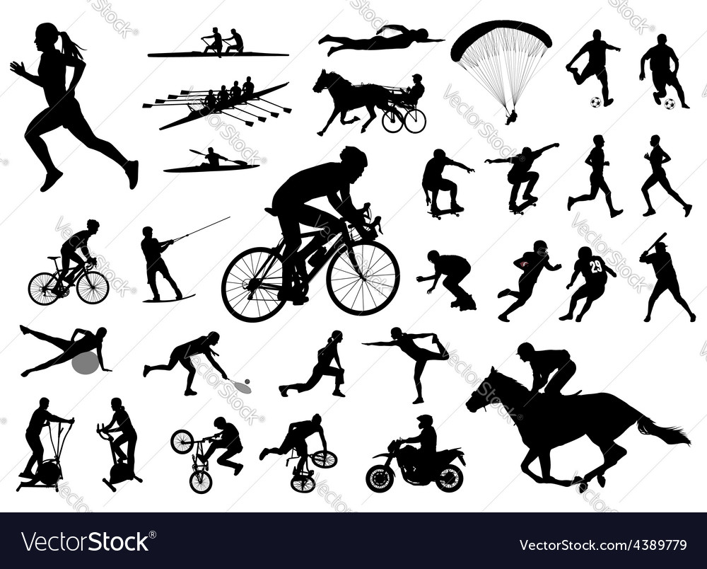 30 high quality sport silhouettes vector | Price: 1 Credit (USD $1)