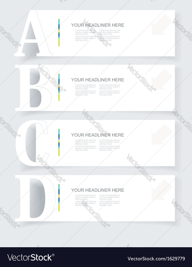 Abstract infographics option banners set vector | Price: 1 Credit (USD $1)