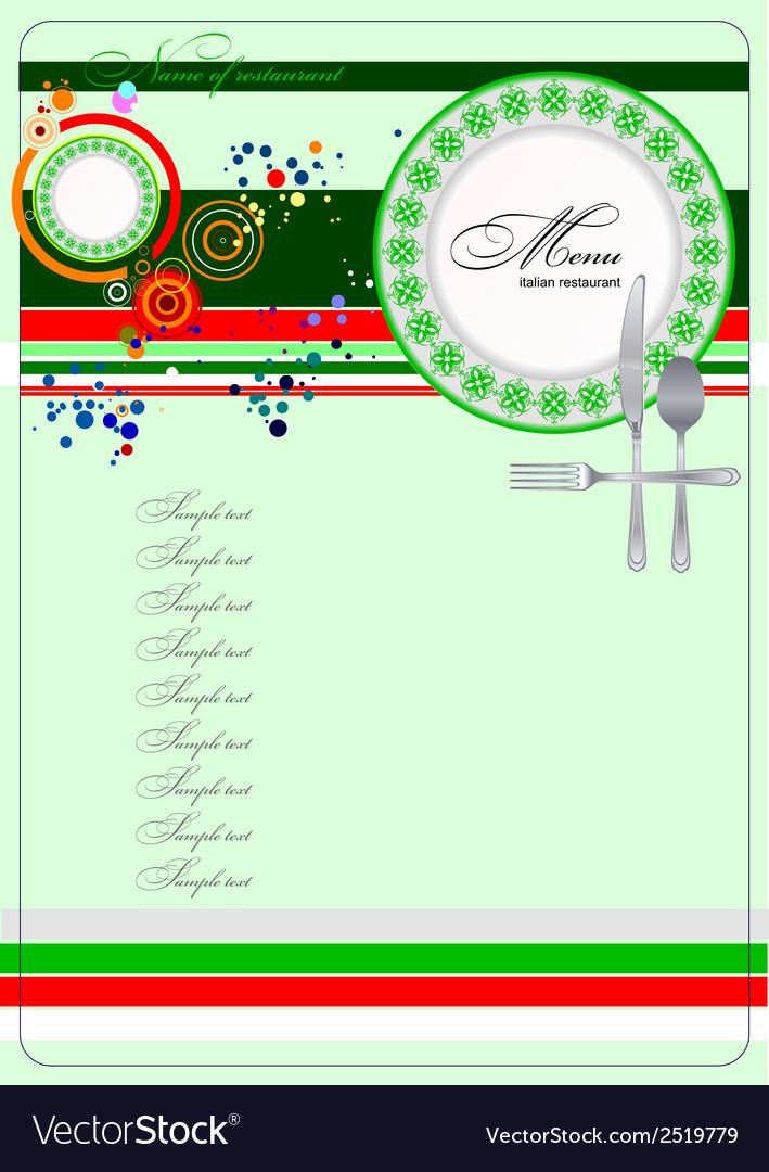 Al 0329 italian restaurant menu vector | Price: 1 Credit (USD $1)