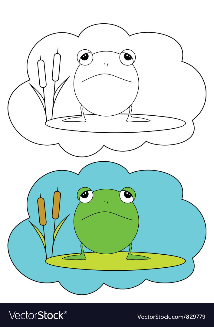 Color-in frog vector | Price: 1 Credit (USD $1)