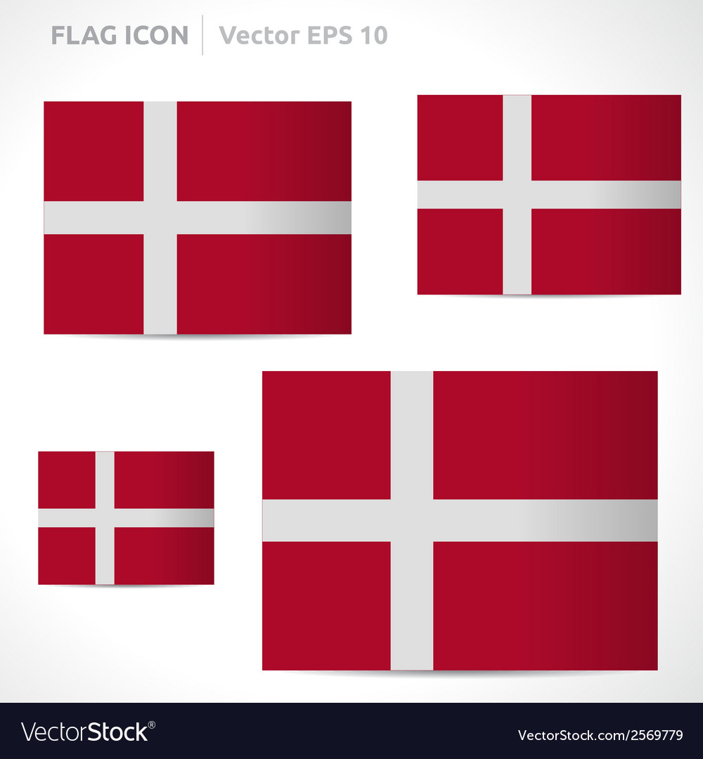 Denmark flag template vector | Price: 1 Credit (USD $1)