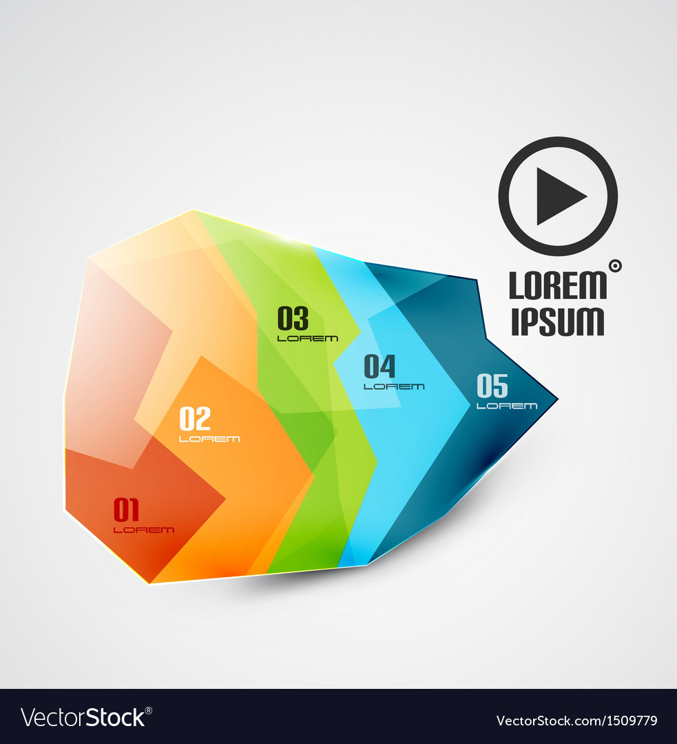 Glossy abstract geometrical business infographics vector | Price: 1 Credit (USD $1)