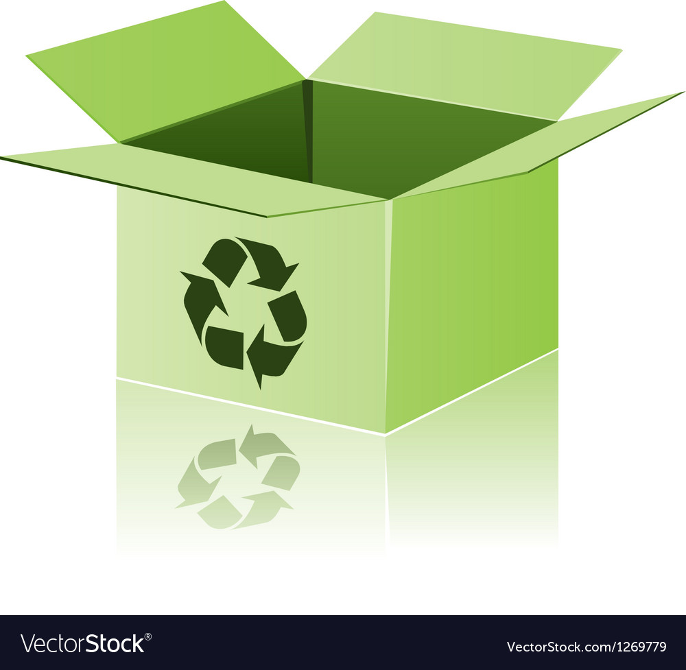 Green cardboard with recycle sign vector | Price: 1 Credit (USD $1)