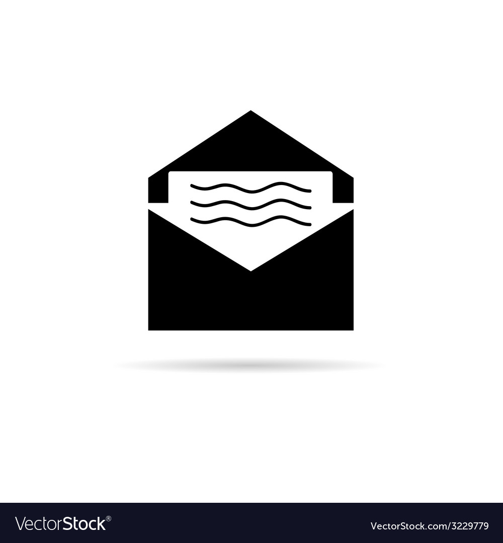 Letter with message icon vector | Price: 1 Credit (USD $1)