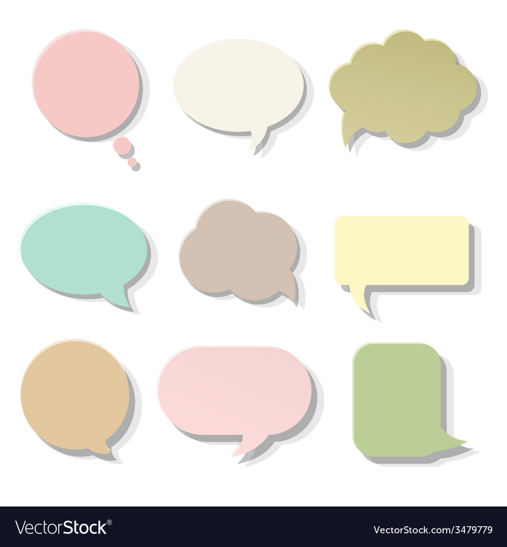 Pastel speech bubble vector | Price: 1 Credit (USD $1)