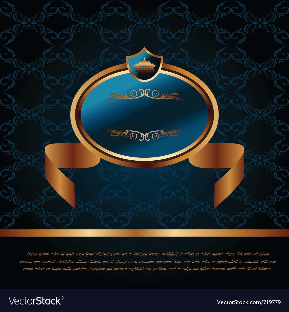 Royal background with artistic award golden frame vector | Price: 1 Credit (USD $1)