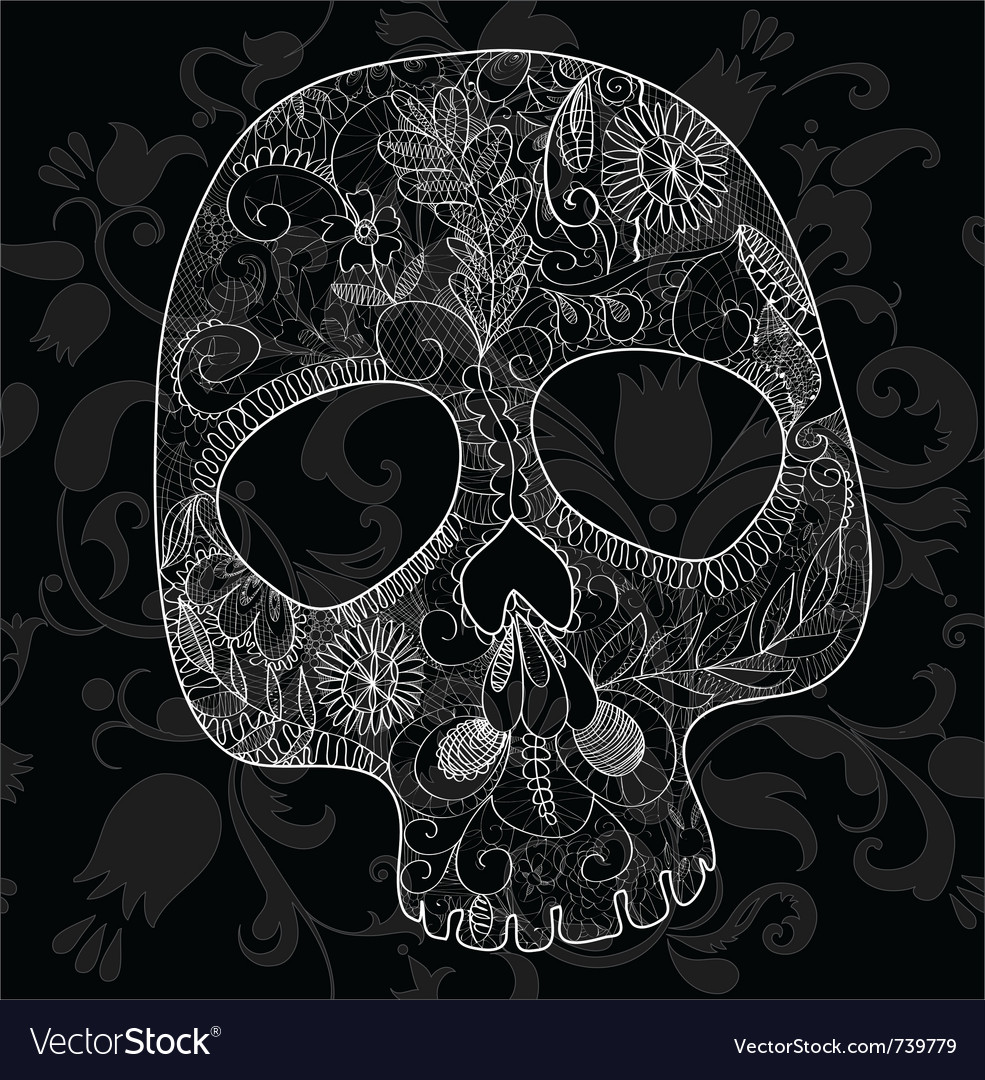 Skull woven lace vector | Price: 1 Credit (USD $1)