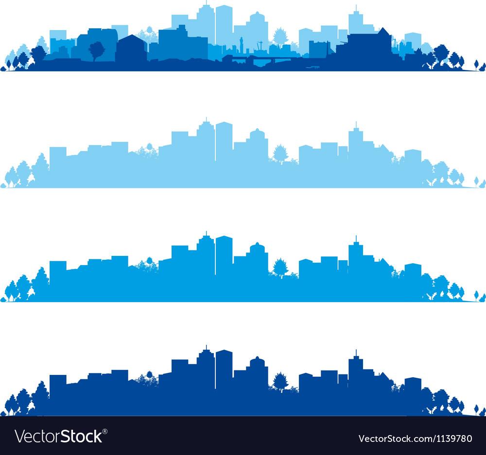 Cityscape wide vector | Price: 1 Credit (USD $1)