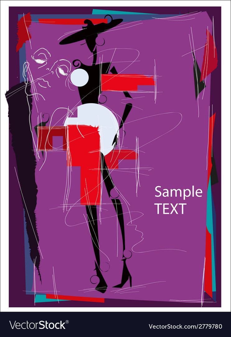 Fashion girl cubism vector   Price: 1 Credit (USD $1)