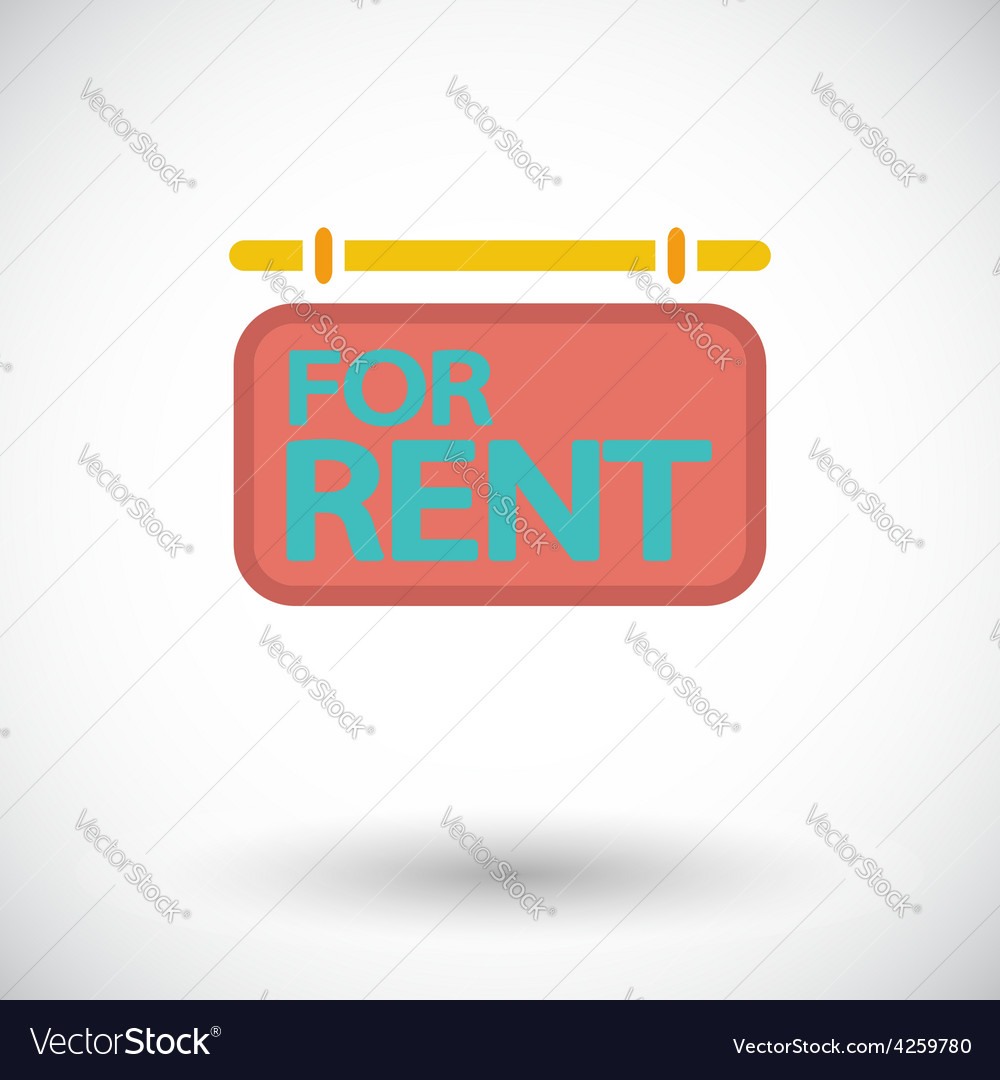 For rent single icon vector | Price: 1 Credit (USD $1)