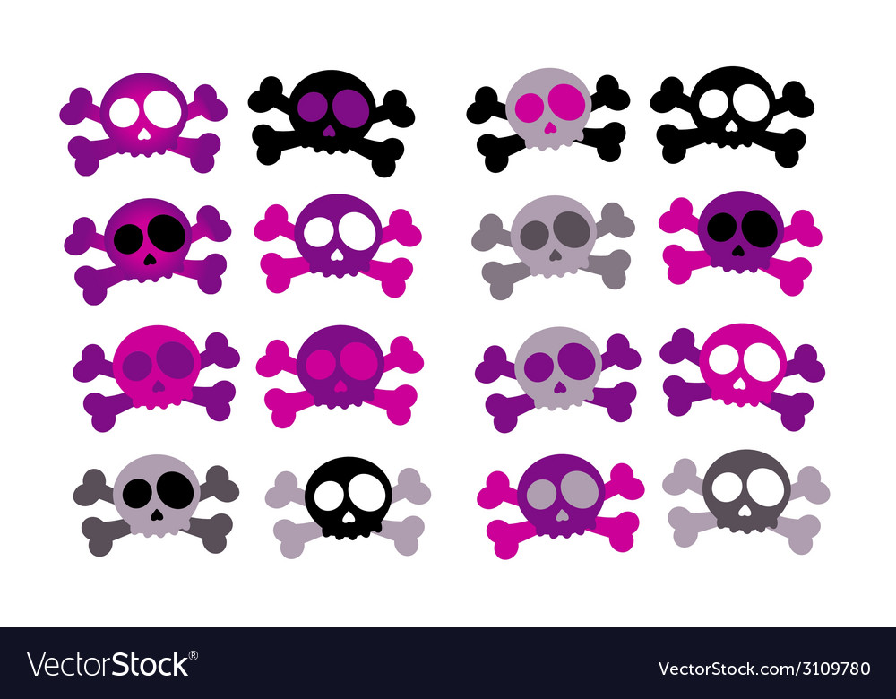 Girly skulls vector | Price: 1 Credit (USD $1)