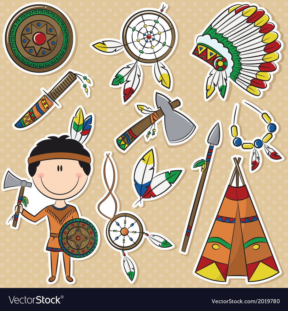 Native american man vector | Price: 1 Credit (USD $1)