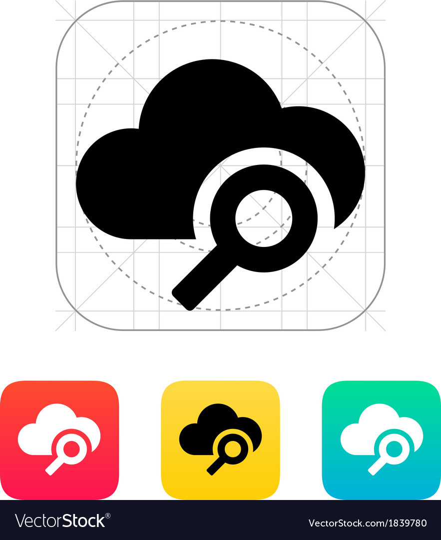 Search cloud computing icon vector | Price: 1 Credit (USD $1)