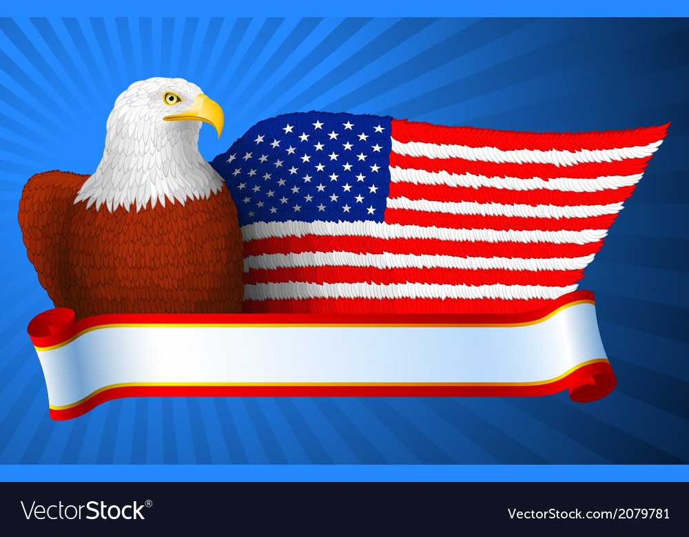 American eagle flag wing vector | Price: 1 Credit (USD $1)