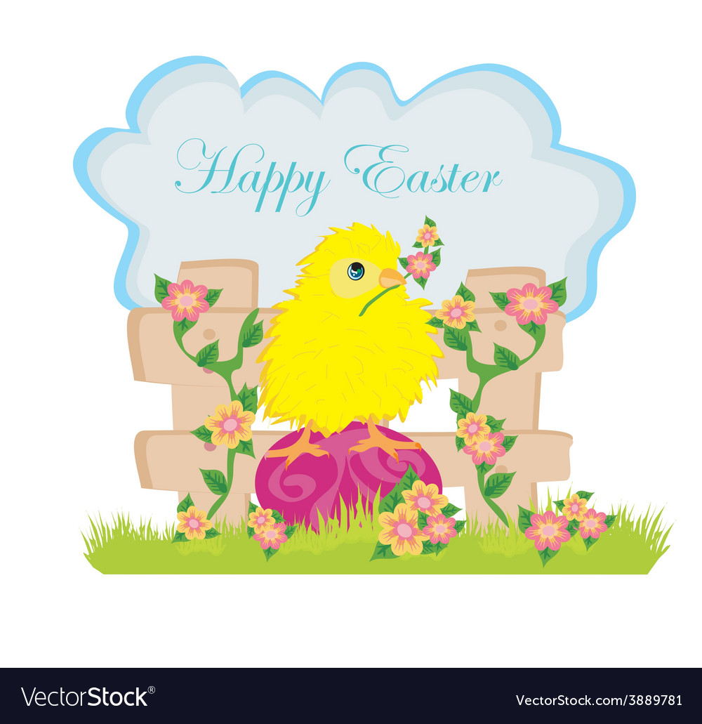 Beautiful easter greeting card vector | Price: 1 Credit (USD $1)