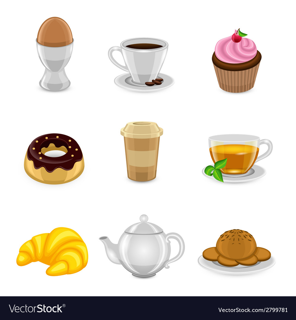 Breakfast icon set vector | Price: 1 Credit (USD $1)