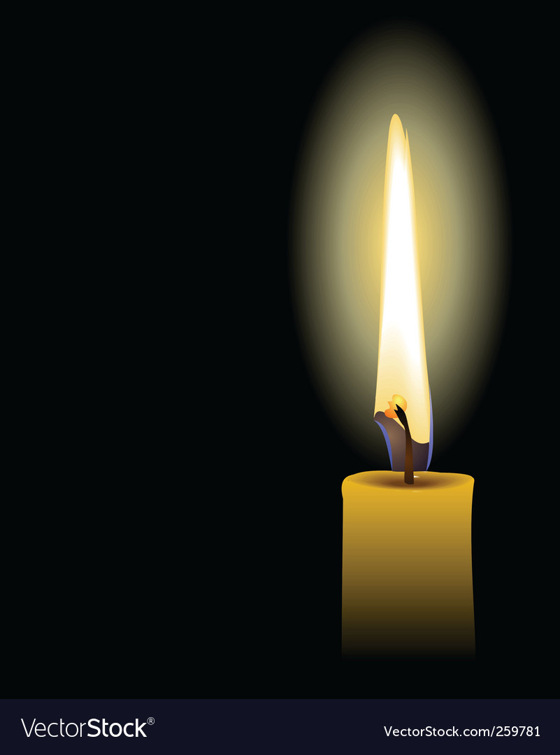 Candle vector | Price: 1 Credit (USD $1)