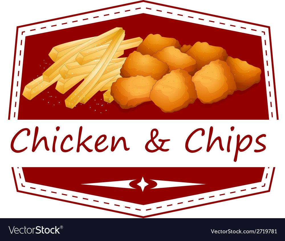 Chicken and chips vector | Price: 1 Credit (USD $1)