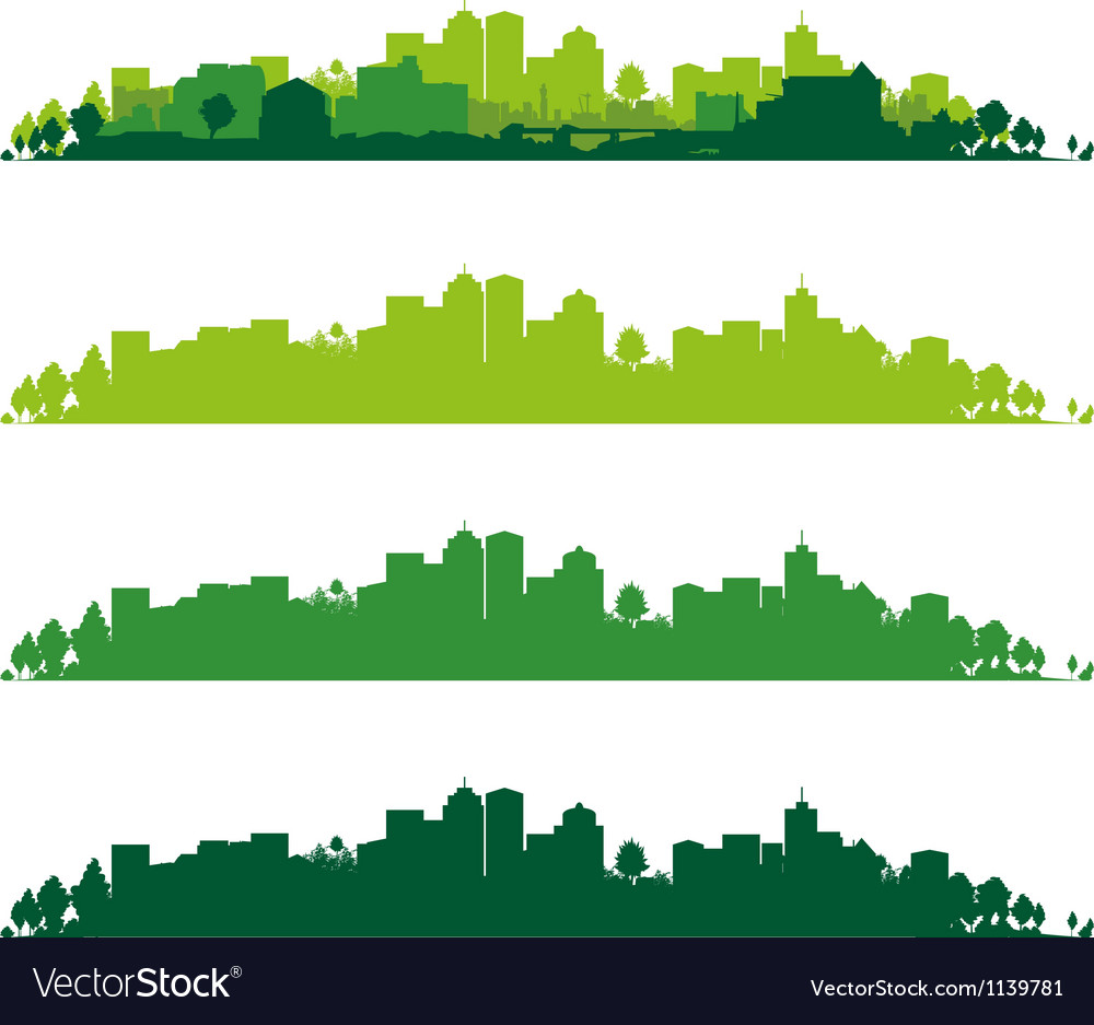 Cityscape wide vector | Price: 1 Credit (USD $1)