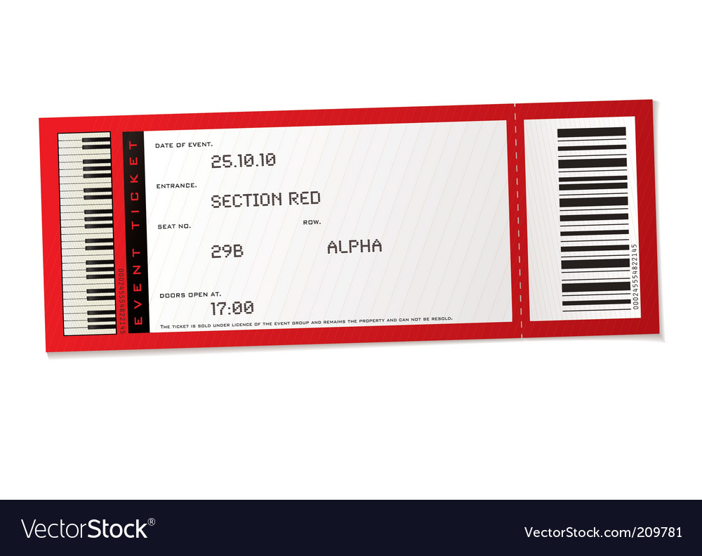 Concert event ticket vector | Price: 1 Credit (USD $1)