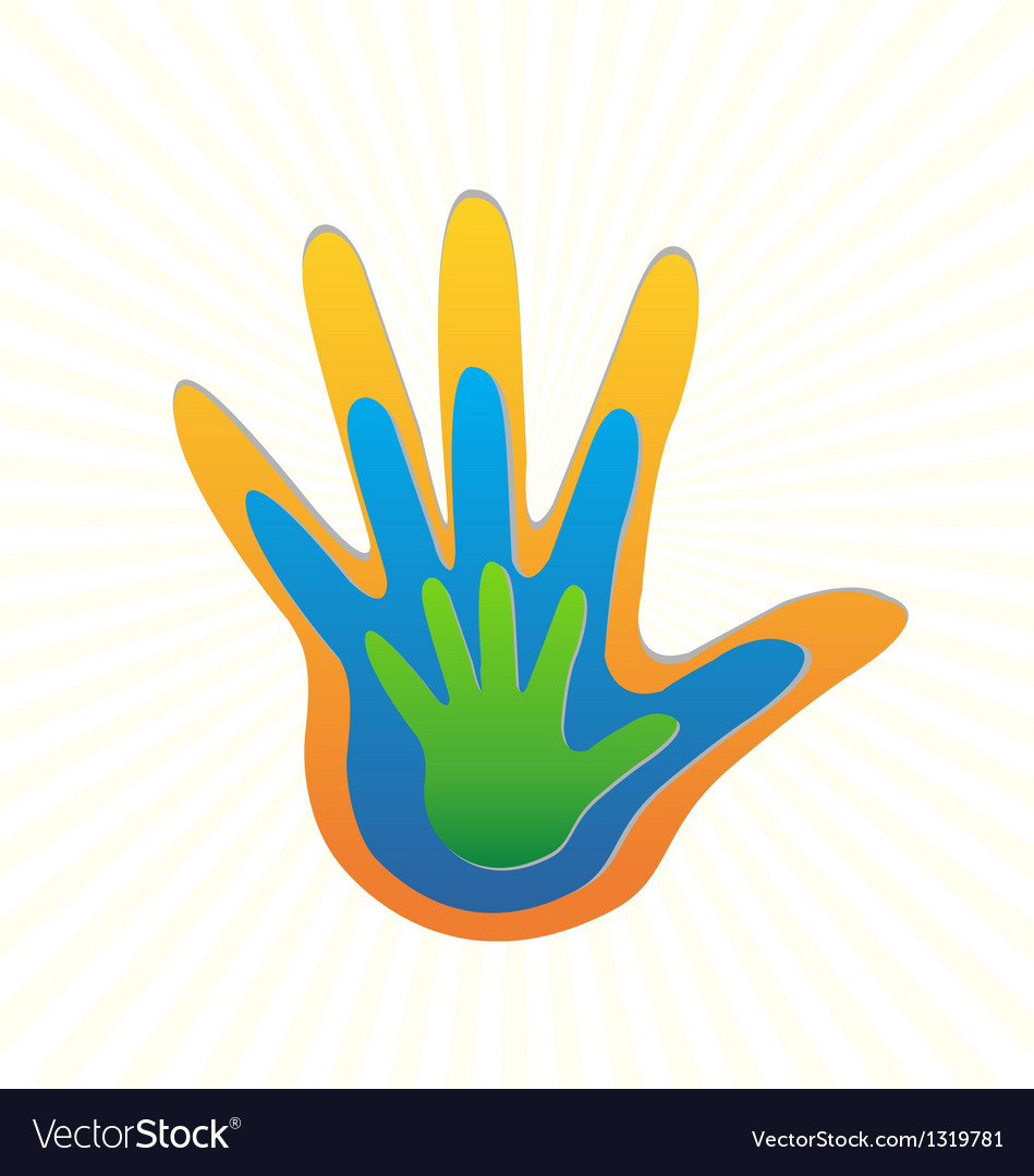 Family hands protection logo vector | Price: 1 Credit (USD $1)