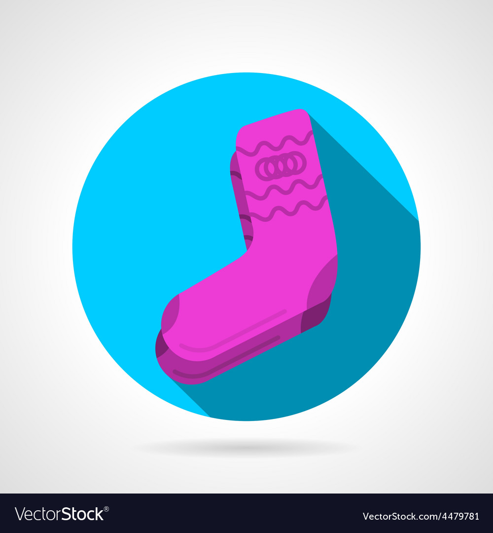 Flat icon for pink socks vector | Price: 1 Credit (USD $1)