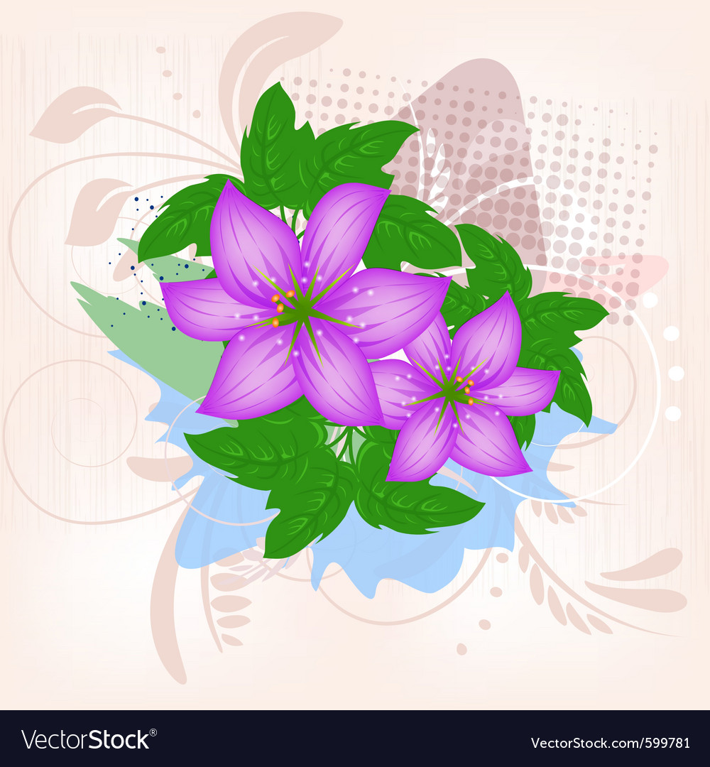Lily flower decoration vector   Price: 1 Credit (USD $1)